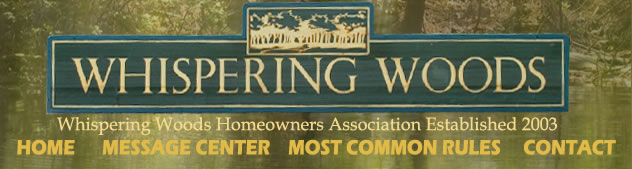Whispering Woods Homeowners Association